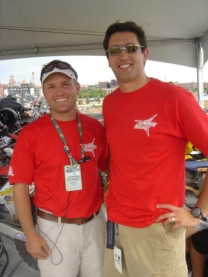 Dr. Joel and Dr. Mark at the Dew Games